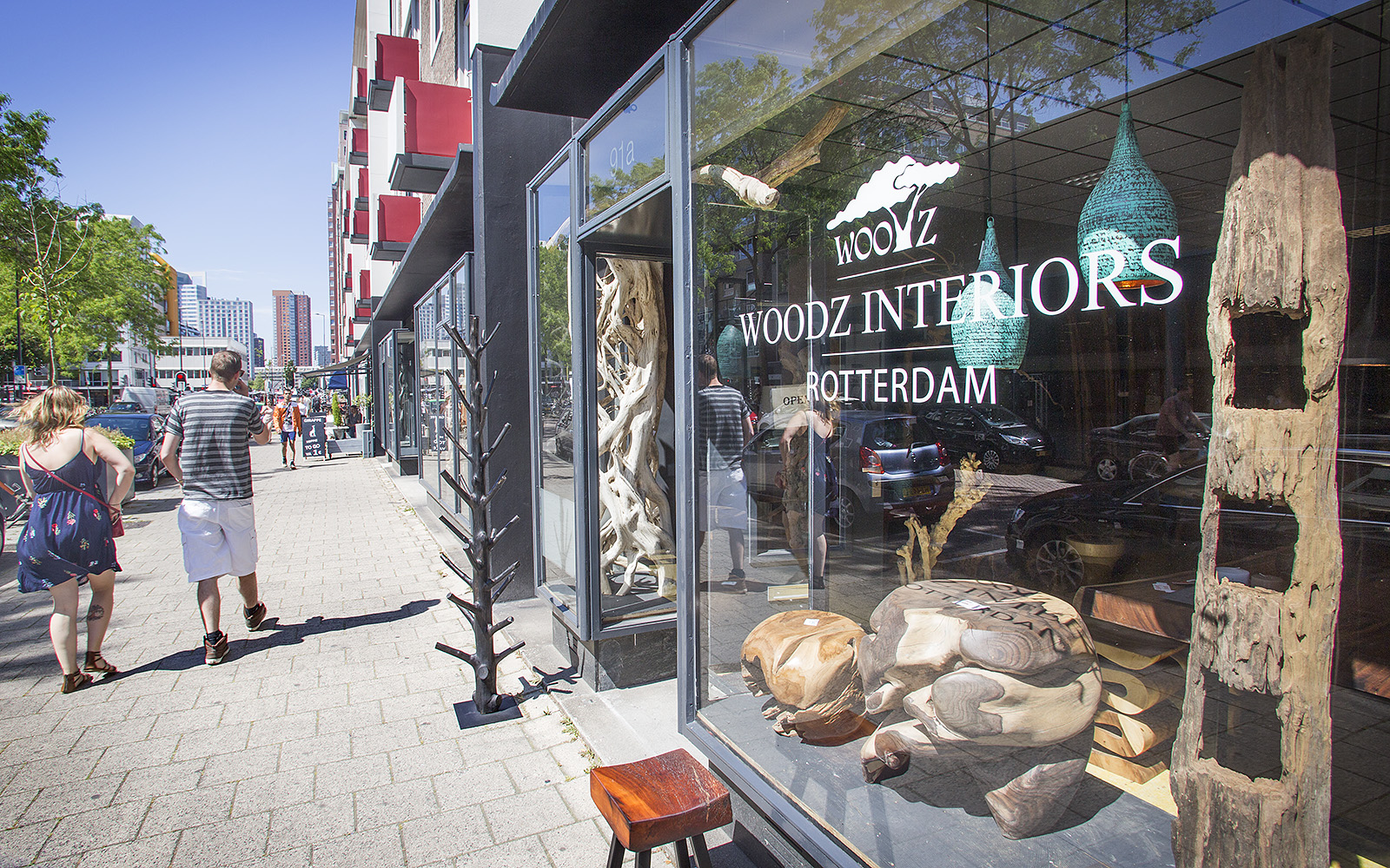 De winkel van Marco van Woodz op de Hoogstraat in het Hoogkwartier