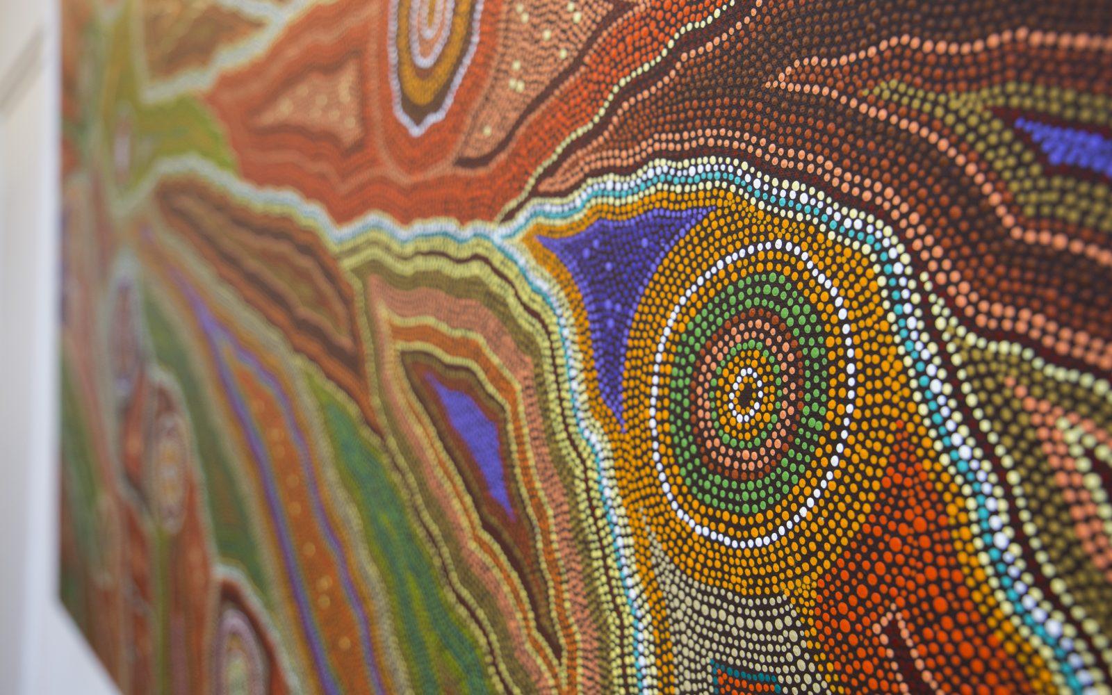 Danielle en Michel van Aboriginal Art Gallery Rotterdam
