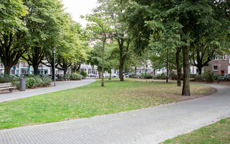 Het parkje aan het Achterklooster foto door Emiel Meijer