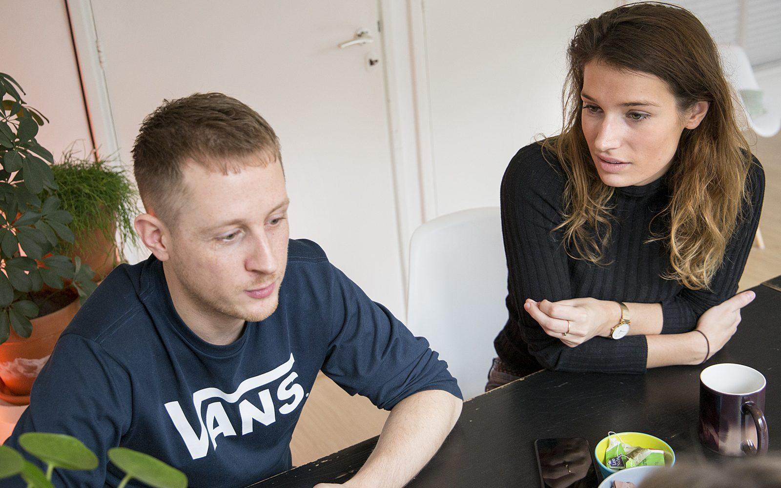 Tomas en Lotte in het Hoogkwartier