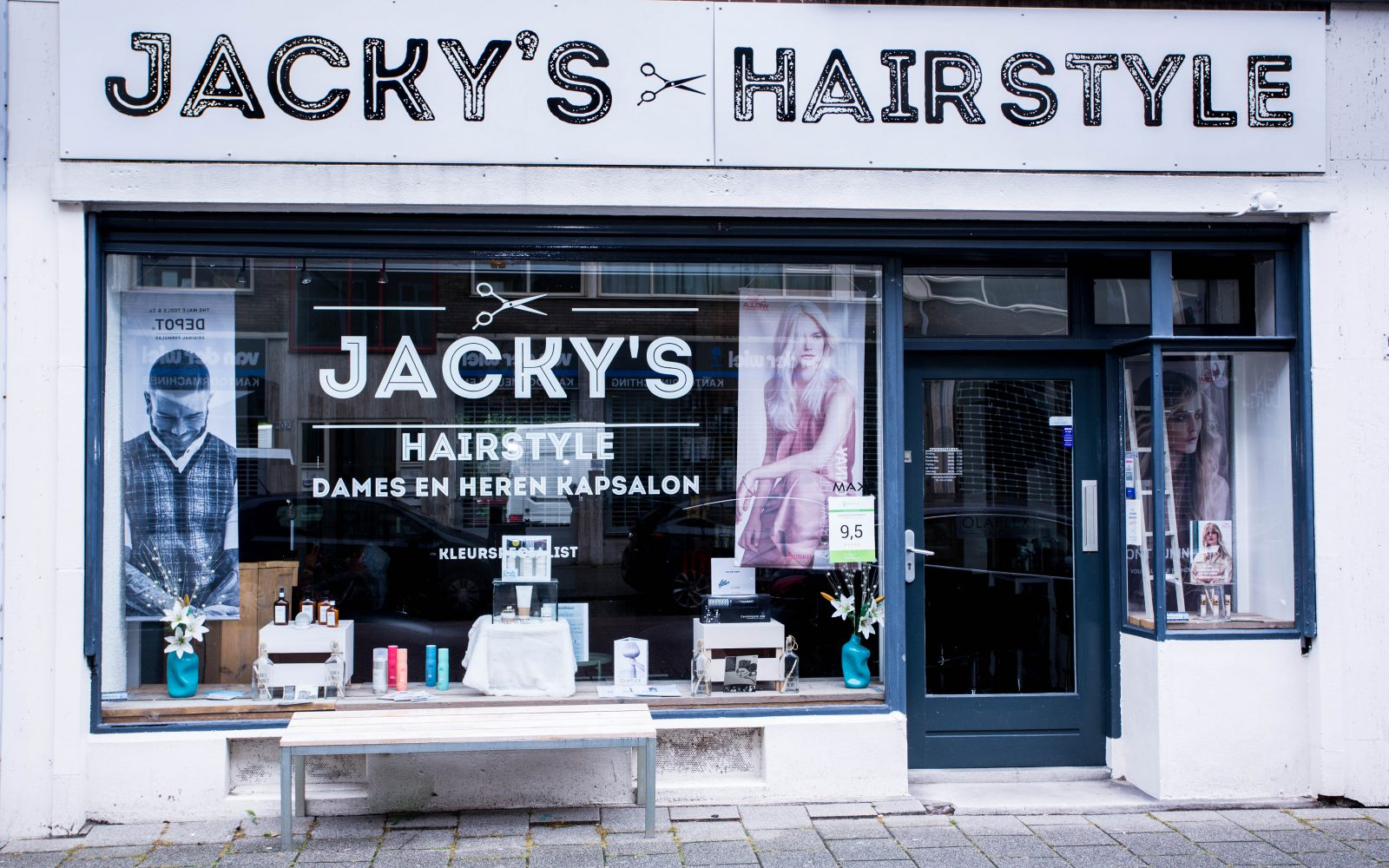 Jacky's Hairstyle op de Hoogstraat