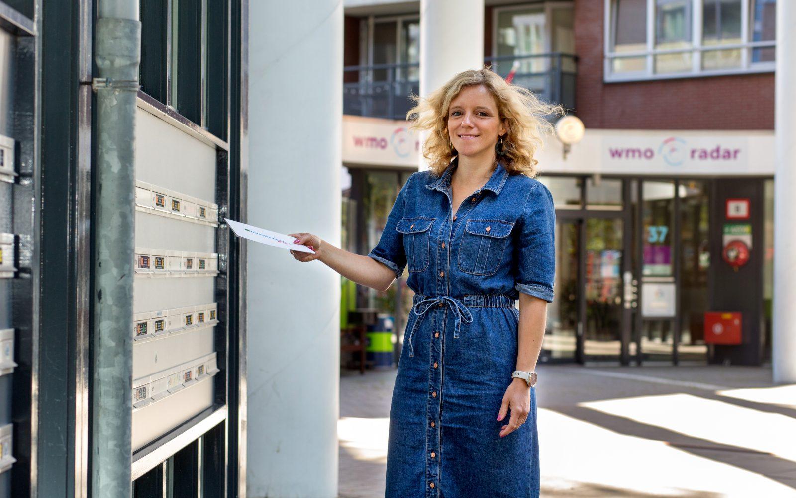 Mieke Melis van wmo radar in de Kipstraat